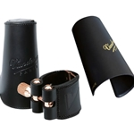 Vandoren Leather Bari Sax Ligature & Cap LC29P