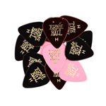 Ernie Ball Heavy Assorted Color Cellulose Picks, bag of 24   EB9174