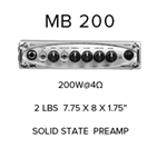 Gallien Krueger 200w head MB-200HEAD